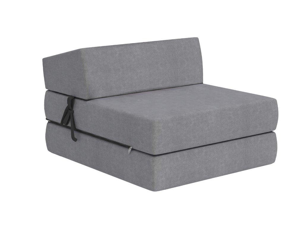 Összehajtható fotelágy 200x70 Szürke