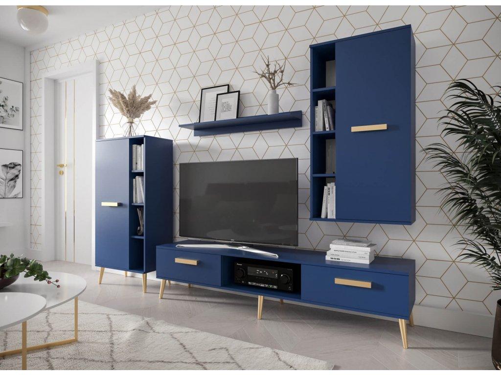 MAREO nappali szekrénysor - kék