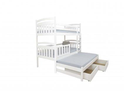 PETRA 1 emeletes ágy 200x90 cm tároló fiókkal és pótággyal