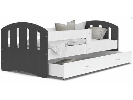 HANNA gyerekágy - szürke ágytámlákkal