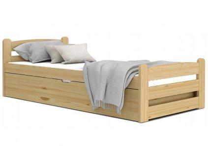 DÁVID felnyitható ágyneműtartós ágy 90x200 - borovi
