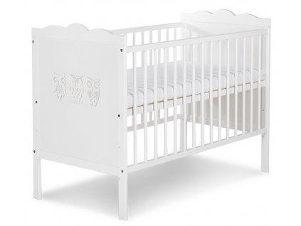Fehér Klupš Marsell kiságy 120x60