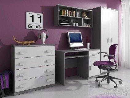 Svend Grey szekrénysor - szürke, fehér
