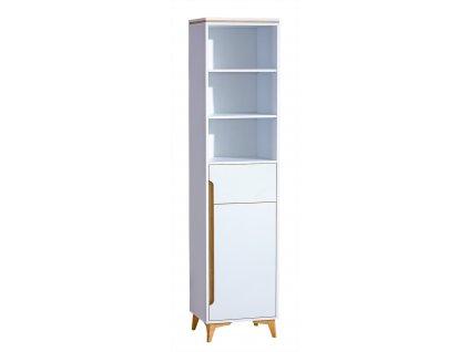 GRUMI 3 - FEHÉR polcos szekrény