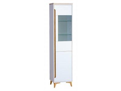 GRUMI 4 - FEHÉR üveges szekrény