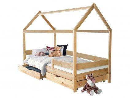 MÁRTON házikó ágy 200x90 - natúr