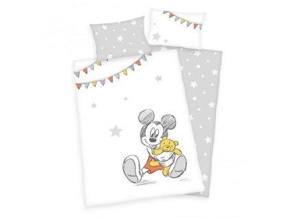 Gyerek pamut ágyneműhuzat 100x135 - Mickey Mouse