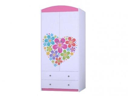 MERY SZ06 88 ruhásszekrény - rózsaszín