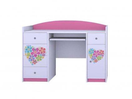 MERY B01 íróasztal - rózsaszín