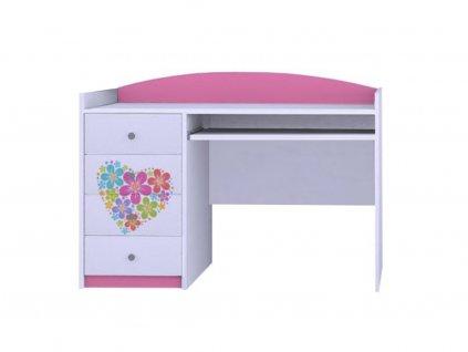 MERY B03 íróasztal - rózsaszín