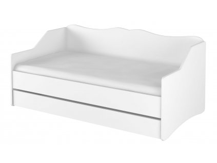 LULU gyerekágy tároló fiókkal 160x80 cm - fehér