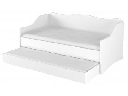 LULU gyerekágy vendégággyal 160x80 cm - fehér