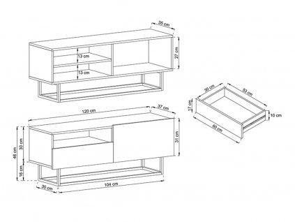 TV asztal RTVSZ 120