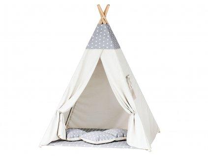 Teepee sátor - szürke csillagos