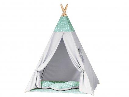 Teepee indián sátor mini csillagok