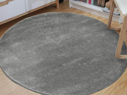 LORA GREY kerek szőnyeg - szürke