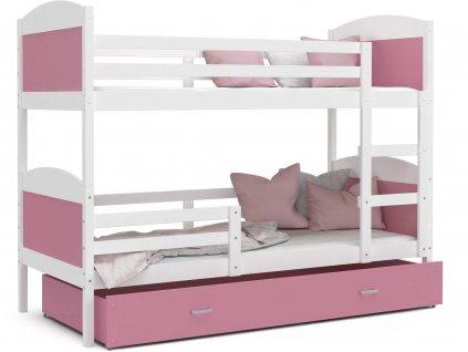 MÁTYÁS 2 emeletes ágy - rózsaszín