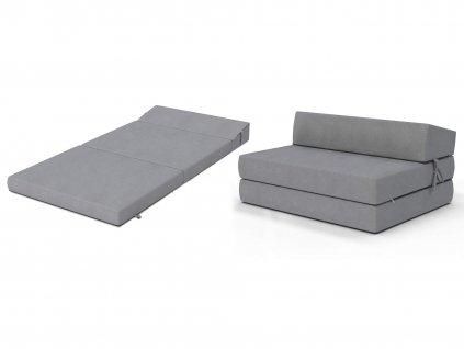 Összehajtható fotelágy 200x120 Szürke