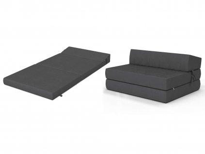 Összehajtható fotelágy 200x120 Grafit