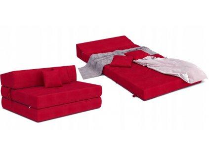 Összehajtható fotelágy 200x120 Piros