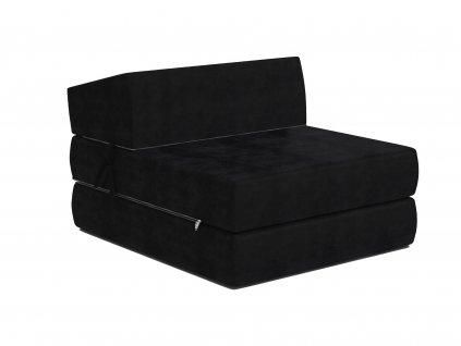 Összehajtható fotelágy 200x70 Fekete