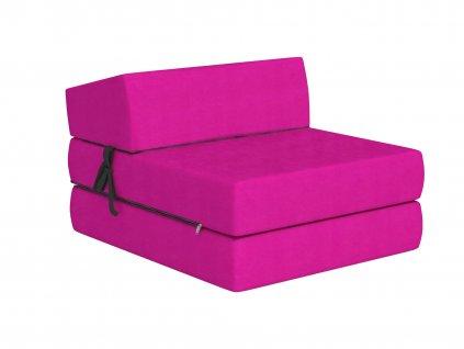 Összehajtható fotelágy 200x70 Rózsaszín