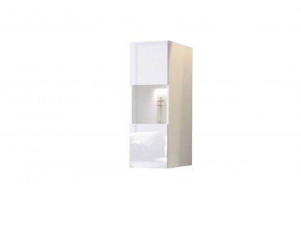 Toby fali vitrines szekrény - fehér