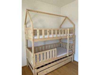 HÁZIKÓ emeletes ágy 90x200 - borovi