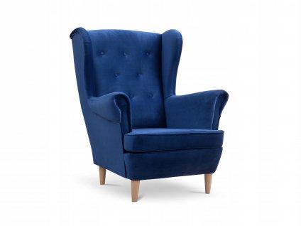 Deana füles fotel - kék