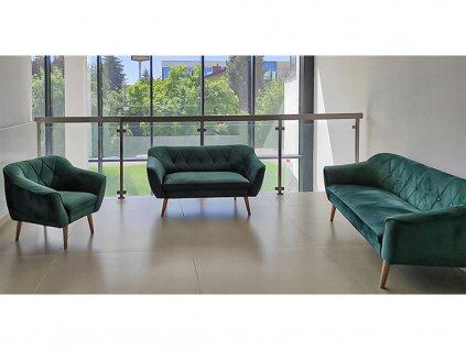 DEANA II kárpitozott kanapé - zöld