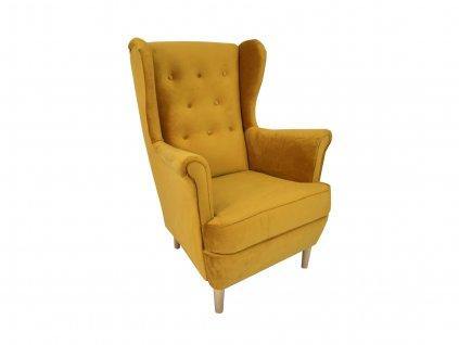 DEANA füles fotel - mustár