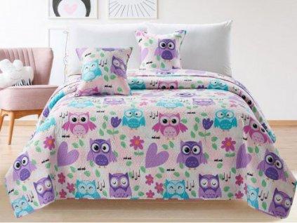 Gyerek ágytakaró 160x220 - baglyok