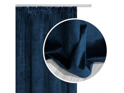 VELVET sötétítő függöny 140x270 - kék