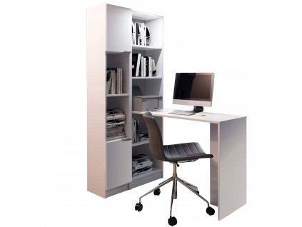 KELLY R1 íróasztal polcos szekrénnyel - fehér