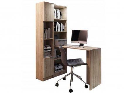 KELLY R1 íróasztal polcos szekrénnyel - sonoma tölgy