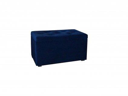 CARMEN tárolós puff - kék