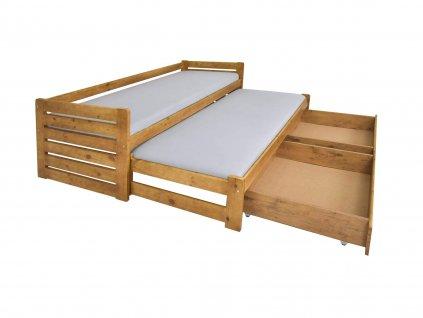Veronika 11 ágy vendégággyal 90x200  - tölgy