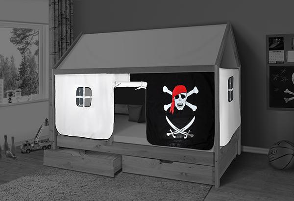 Záclonka na detsku posteľ Domček Martin - pirát