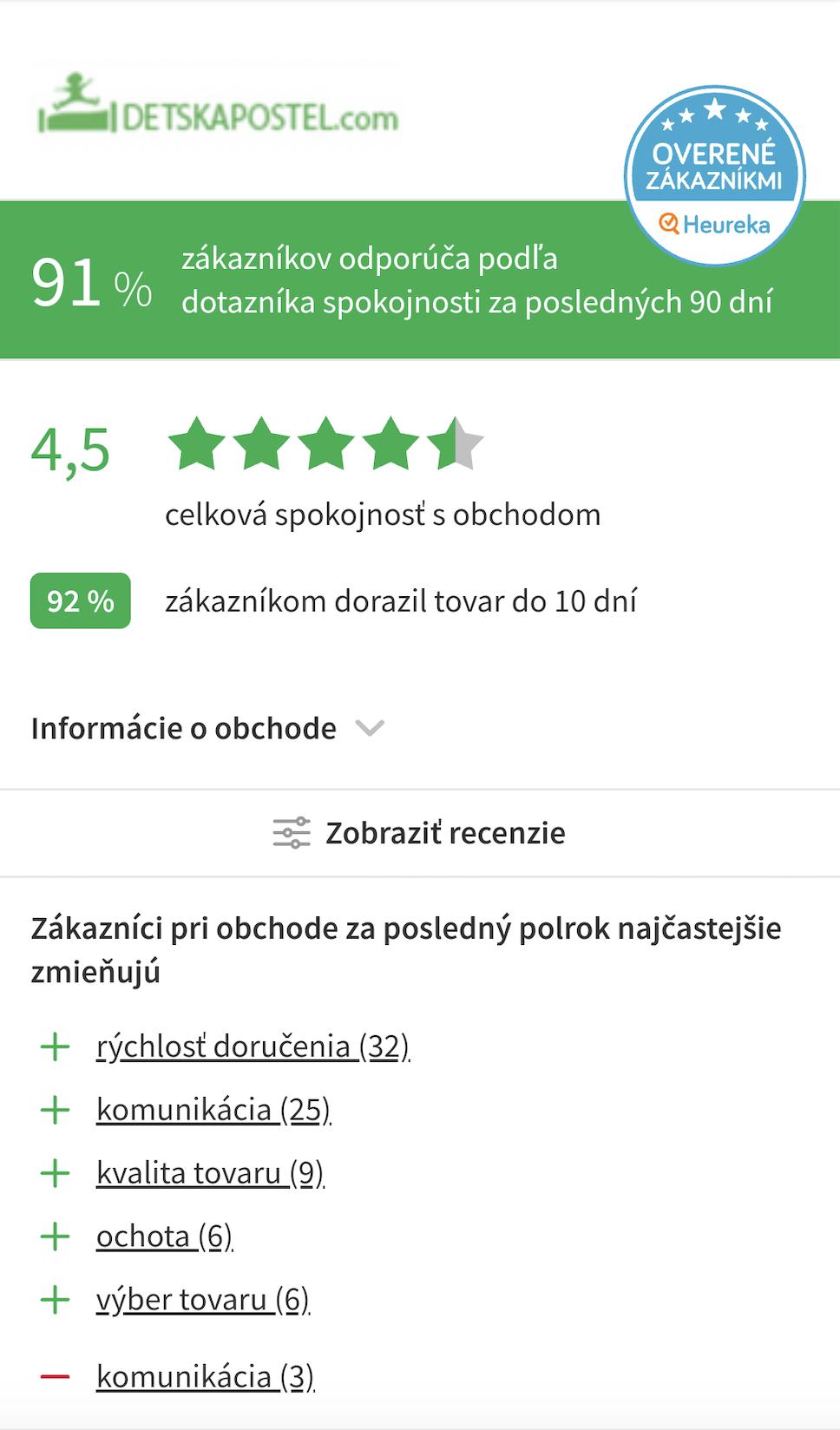 recenzie detskapostel.com - mobilná verzia