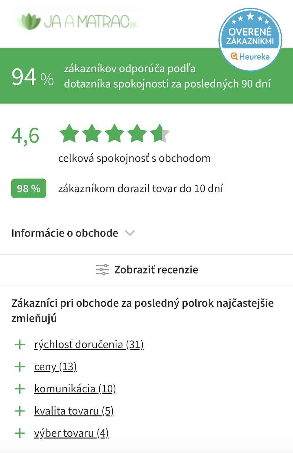 recenzie jaamatrac.sk - mobilná verzia