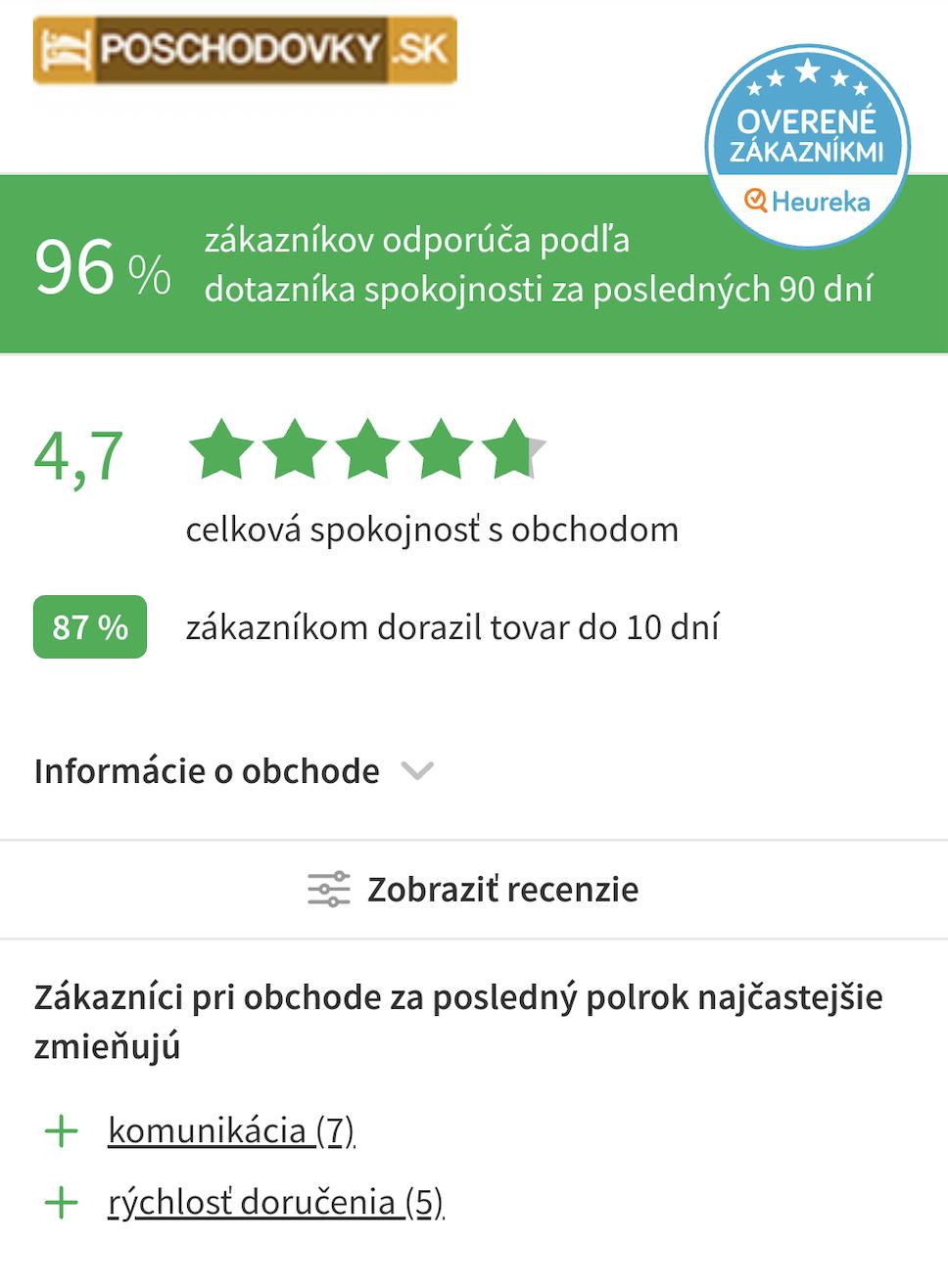 recenzie poschodovky.sk - mobilná verzia