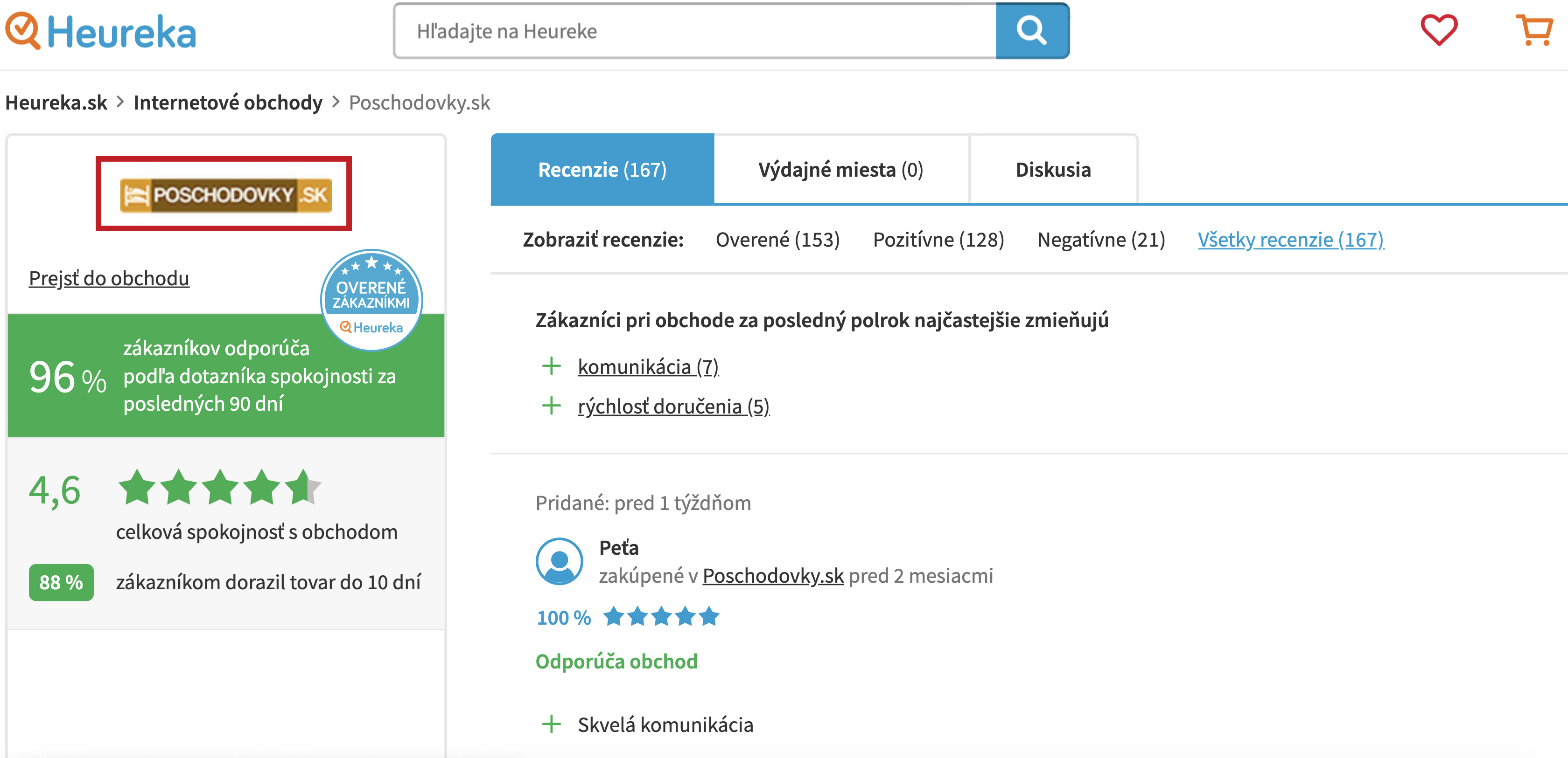 recenzie Heureka poschodovky.sk