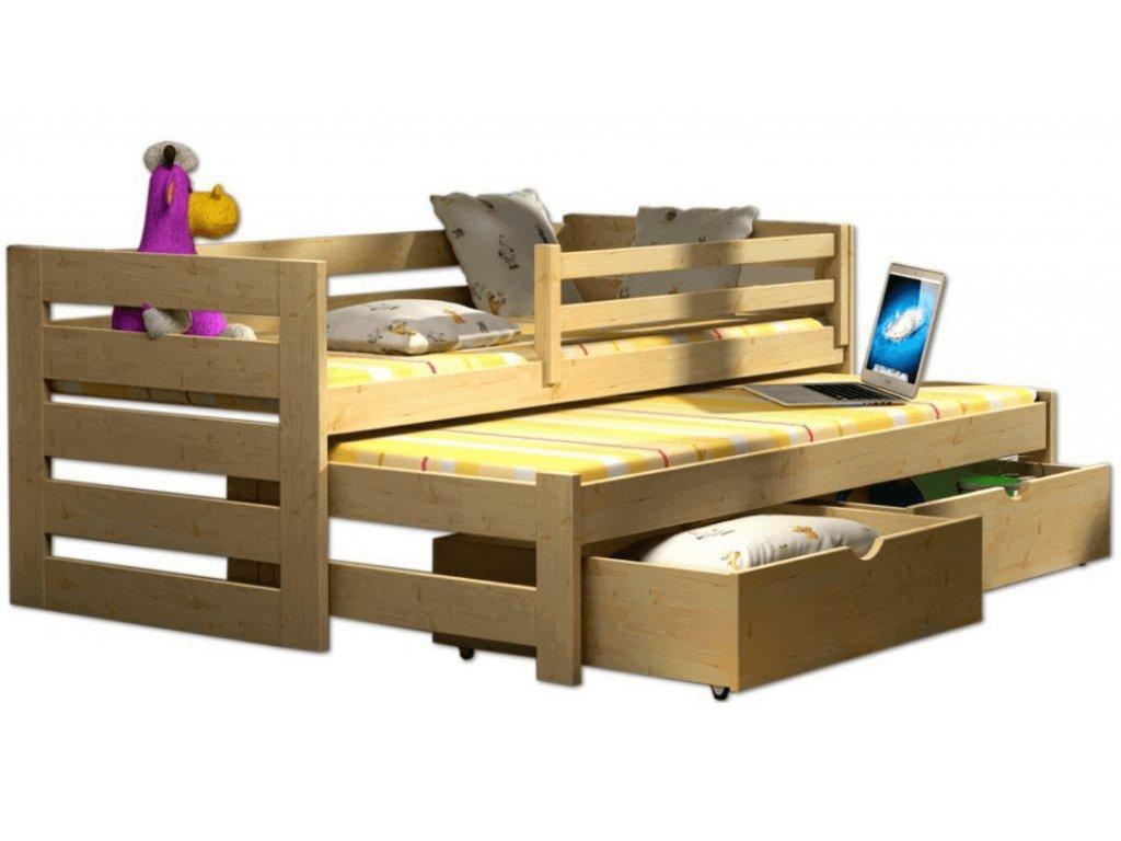 Detská posteľ Veronika 7 (180x80 cm) s prístelkou
