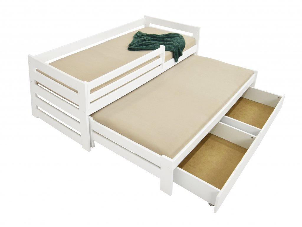 Detská posteľ s prístelkou Veronika 7 90x200 - biela