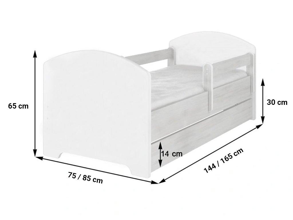 Frozen detská posteľ Disney 140x70