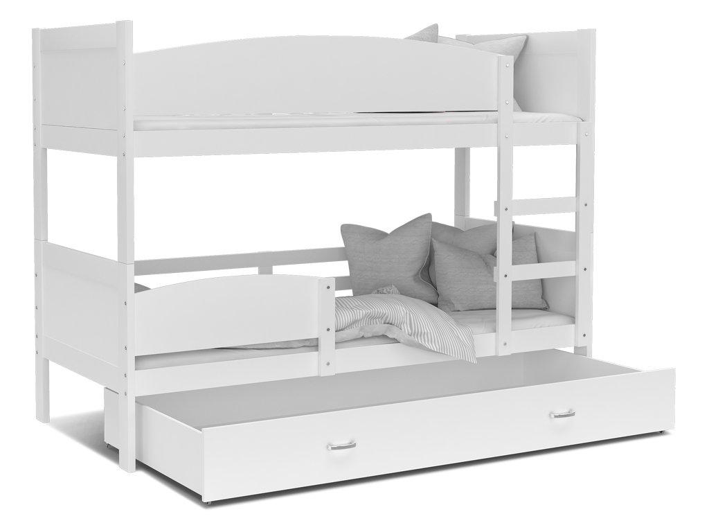 Poschodová posteľ Twist 2 biela 190x80