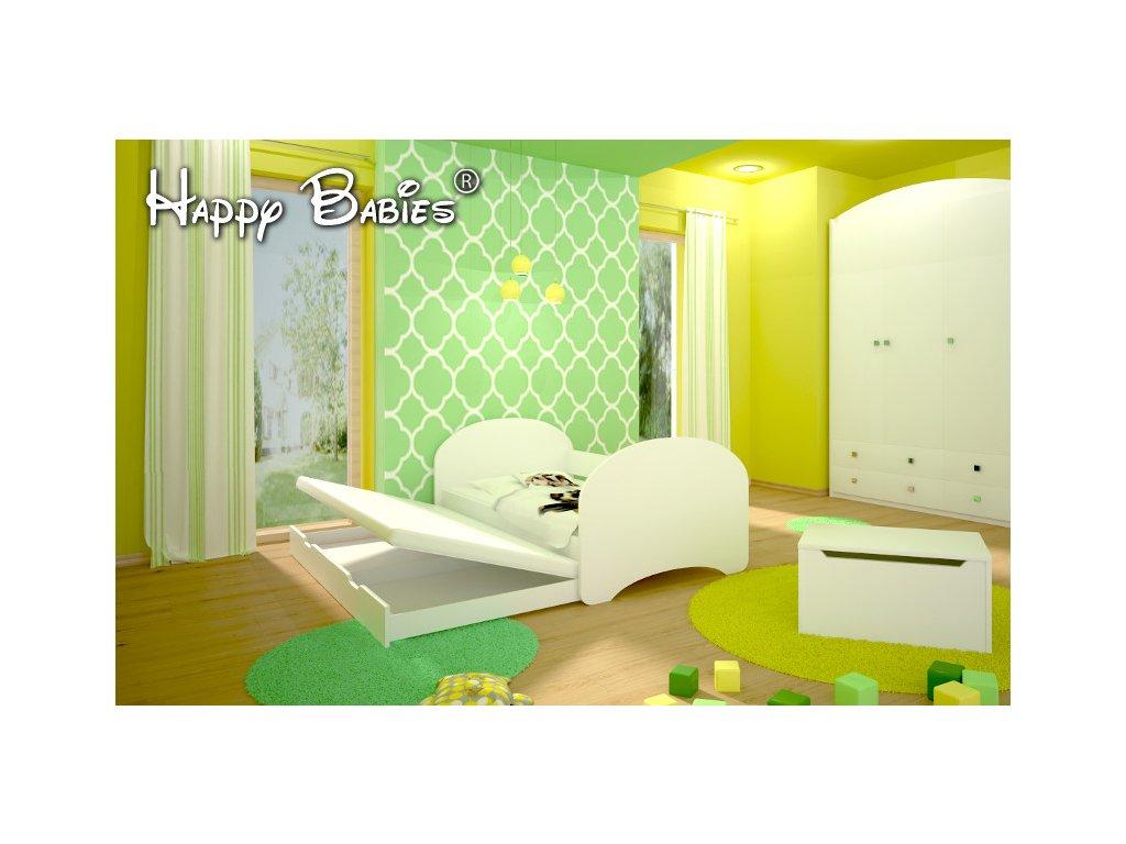 Happy P2 180x90 - posteľ s prístelkou