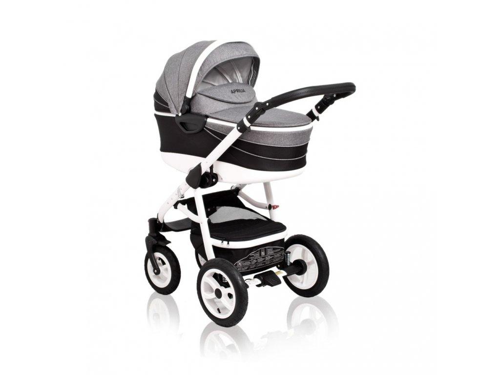 Kombinovaný kočík Aprilia Coto Baby 2v1 - BLACK-GREY
