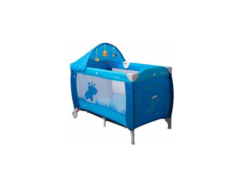 Cestovná postieľka pre deti Samba Lux Modrá