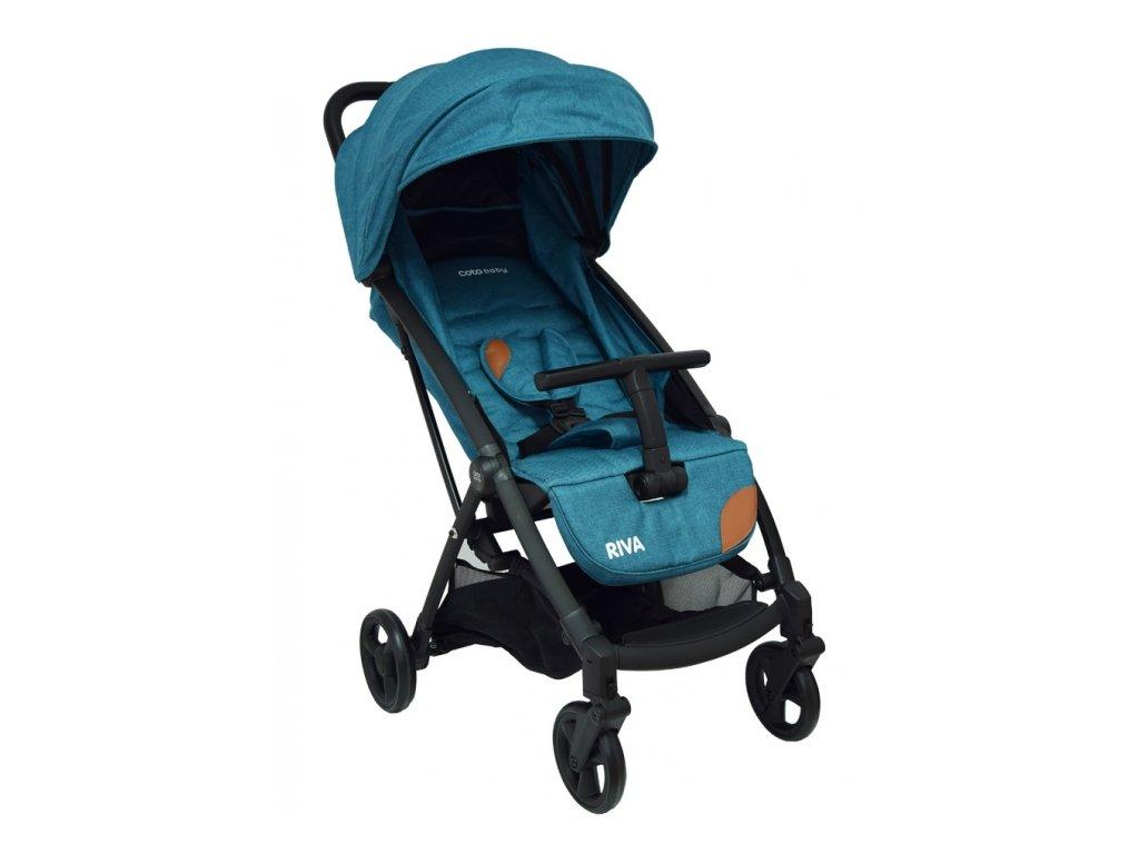 Kočík pre deti Riva v tyrkysovej farbe